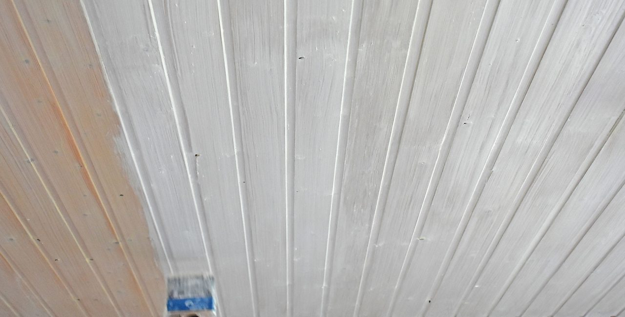 Lackierarbeiten Holzschutz Lasur Holzdecke streichen Schortens Jever Friesland 01
