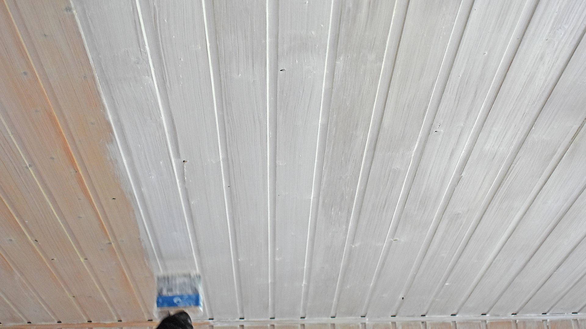 Turbo Lackierarbeiten Holzschutz Lasur Holzdecke streichen Schortens RT32