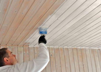 Lackierarbeiten Holzschutz Lasur Holzdecke streichen Schortens Jever Friesland 02