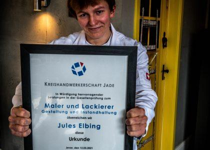 Gesellenprüfung bestanden! - Malerbetrieb Erwin Janßen in Schortens