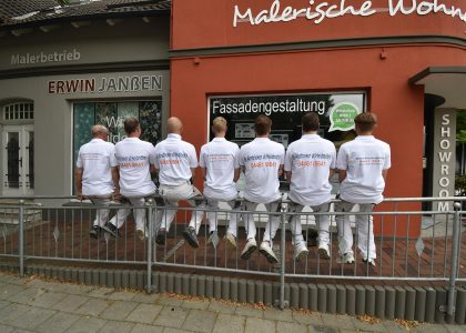 Das Team von Malerbetrieb Erwin Janssen Schortens Jever 01